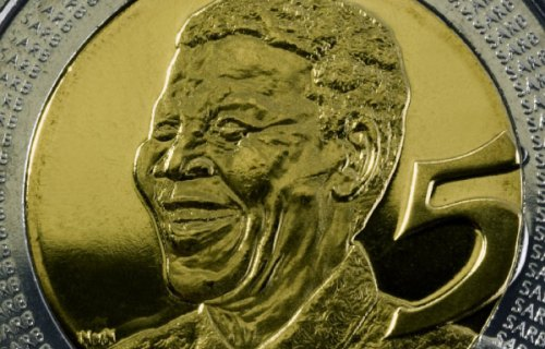 2008 Nelson Mandela 90th Birthday bi-metallic 5 Rand Coin