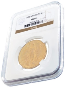 NGC Graded Coin in Edgeview Holder